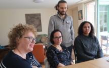 De dr. à g. Océane, ses parrains Johann et Delphine Morin, et Nelly Tanvers, de France Parrainages 35