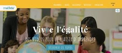 Mathilda, une plate forme éducative sur l'égalité des sexes