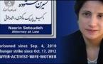 Nasrin Sotoudeh ne sera pas là