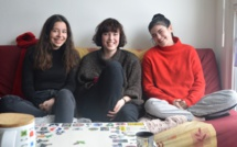 Adèle, Louise et Périne, colocataires solidaires