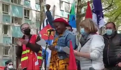 Pour l'association Kuné, Régine Komokoli a souhaité la bienvenue à Villejean. (capture d'écran de la page Facebook de Kuné)