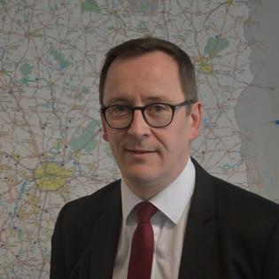 Franck Pichot, vice président du Conseil départemental, chargé de l'éducation veut rendre le collège Rosa Parks plus attractif.