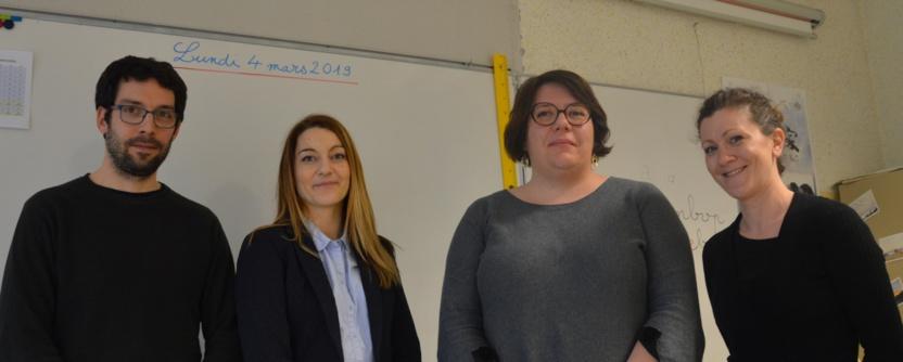 Les professeurs rencontrés, Michel Novak, Marie Lebossé, Line Quentin et Julie Decosterd veulent continuer à assurer un enseignement de qualité. Ils craignent une augmentation du nombre d'élèves par classe.