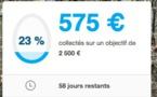575 € collectés en deux jours...